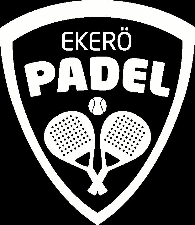 Vit logo Ekerö Padel
